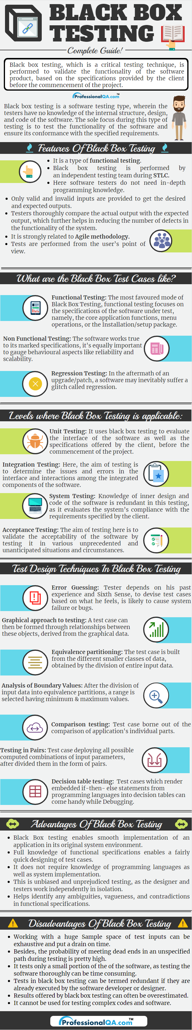 Black Box Testing Infographics