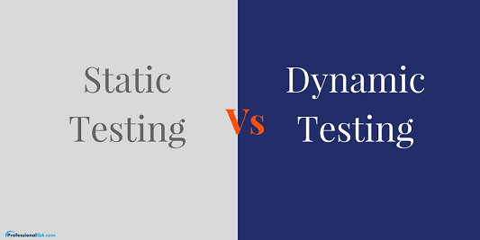 Professionalqa static vs dynamic testing image