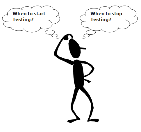 when to start and stop testing?