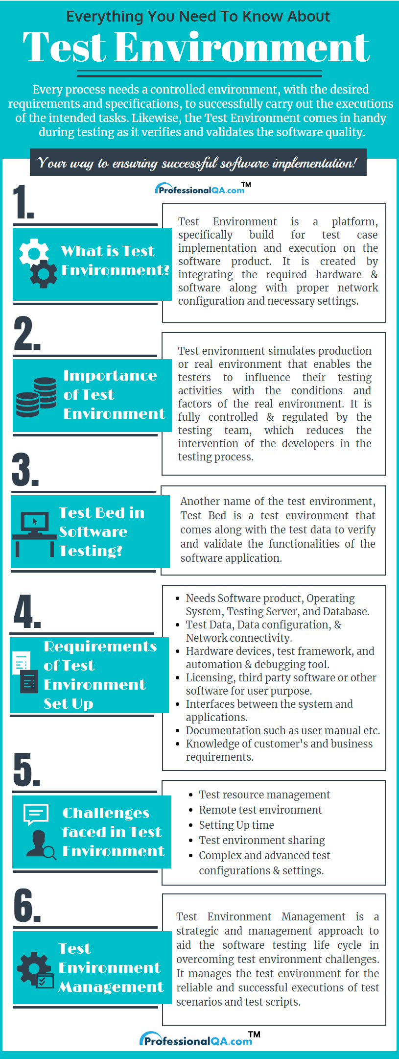 Test Environment infographics