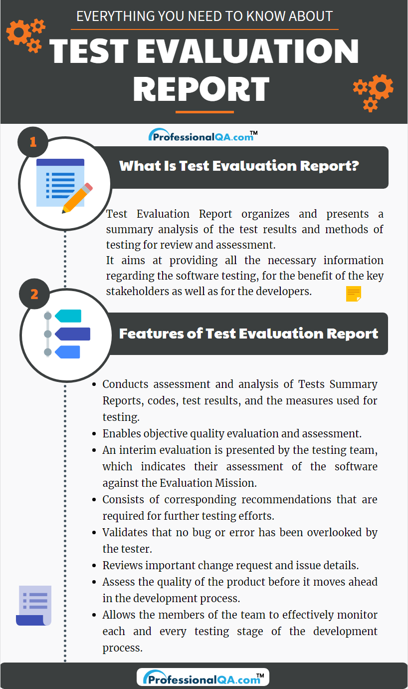 test evaluation report